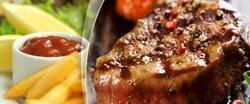 Šťavnaté steaky pro 2 s přílohou i omáčkou ve 2 variantách v restauraci Ekvádor